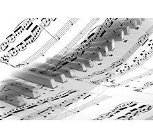 Piano Music Photographic Print
