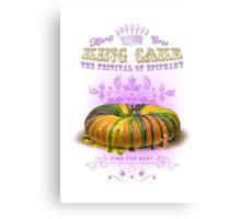 Mardi Gras King Cake Canvas Print