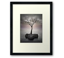 From the Withered Tree, a Flower Blooms (Tree of Solitude) Framed Print