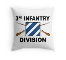 3rd Infantry Division - Crossed Rifles Throw Pillow