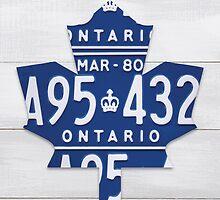 Toronto Maple Leafs Automobilia Decor - White Stain by Route401
