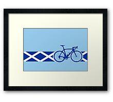 Bike Stripes Scotland Framed Print