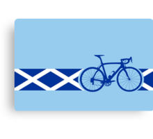 Bike Stripes Scotland Canvas Print