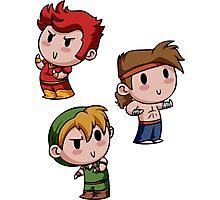 Final Fantasy Chibis - Fighter Trio! Photographic Print