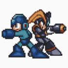 Megaman And Bass by GreenTheRival