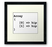 Hip Hip Hooray Programming Array  Framed Print