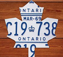 Toronto Maple Leafs Vintage License Plate Art - Cherry by Route401
