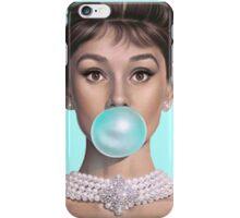 Hot Blue Audrey iPhone Case/Skin