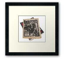 Out On The Backstreets Framed Print