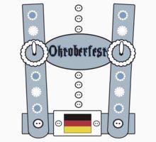 Oktoberfest Lederhosen Funny Blue by FireFoxxy