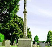 War Memorial in St Leonard's Churchyard, Wychnor by Rod Johnson