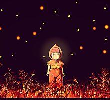 grave of the fireflies (la tumba de las luciérnagas) by woolfygeorge