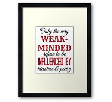 Tessa Quote Framed Print
