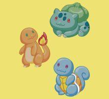 Pokemon Starters - Gen 1 Kids Clothes