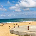 Kids Having Fun on the Beach - Hossegor, France by Tiffany Lenoir