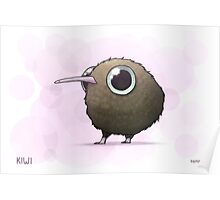 Cute Fat Kiwi Poster