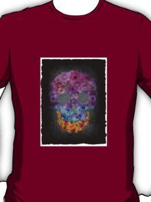 Sugar Skull Made Of Flowers T-Shirt