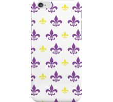 Fleur de Lis Pattern (Purple and Gold 2) iPhone Case/Skin