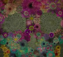 Sugar Skull Flowers In Bloom Sticker