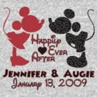 Custom Mickey and Minnie for Jennifer & Augie by sweetsisters