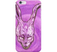 Frank The Easter Bunny (with sort of timey wimey background) iPhone Case/Skin