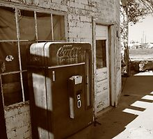Route 66 - Rusty Coke Machine by Frank Romeo