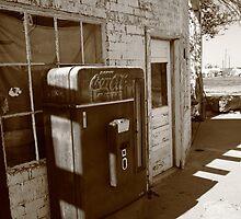 Route 66 - Rusty Coke Machine by Frank Romeo