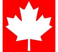 Canada Maple Leaf Flag Emblem Photographic Print