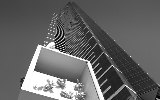 Eureka Tower - Looking Up. by Ben Loveday