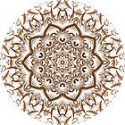 Winged line art kaleidoscope by fantasytripp