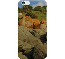 Lighthouse orange rocks Lowhead iPhone Case/Skin