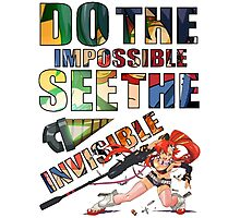 Do The Impossible, See The Invisible - Yoko Photographic Print
