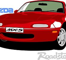 Mazda MX-5 red by car2oonz
