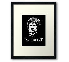 Imp Erfect Framed Print