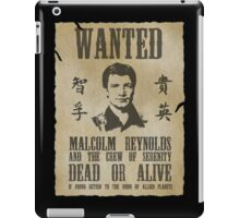 Wanted Captain  iPad Case/Skin