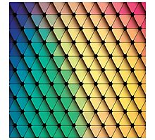 Abstract geometric colorful background, pattern design elements Photographic Print
