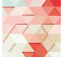 Abstract geometric colorful background, 3D, pattern design elements by BlueLela