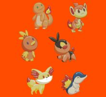 Pokemon Starters - Fire Types Kids Clothes