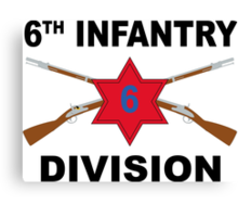 6th Infantry Division - Crossed Rifles Canvas Print