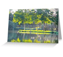 The Quiet Pond - Royan, France. Greeting Card