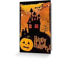 Halloween background Greeting Card