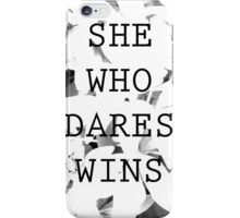 She Who Dares iPhone Case/Skin