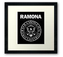 Ramona - White Framed Print