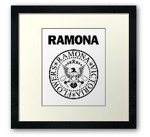 Ramona - Black Framed Print