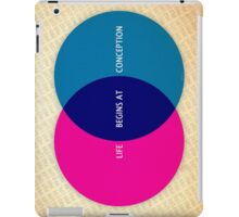 Life Begins At Conception iPad Case/Skin