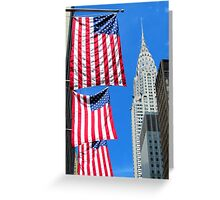 Stars and Stripes at Chrysler, New York City  Greeting Card