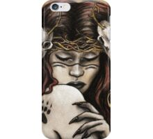 Akka Kuolo - Finnish Goddess of Nature and Death iPhone Case/Skin