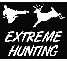 Extreme Hunting Karate Kick Deer Photographic Print