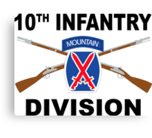 10th Infantry Division - Mountain - Crossed Rifles Canvas Print