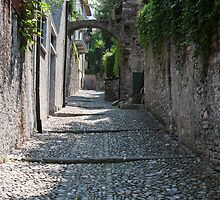 streets of a village typical by spetenfia